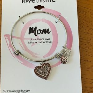 Jewelry - Lot of 2 MOM bracelets silver